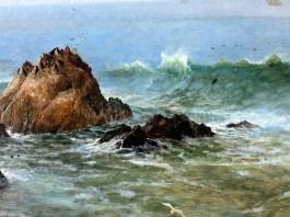 Seal Rocks, Pacific Ocean, California. Albert Bierstadt
