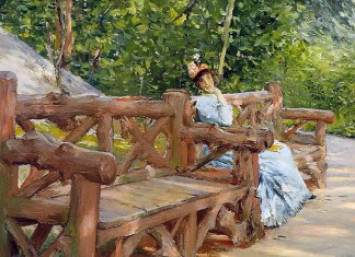Park Bench. William Merritt Chase