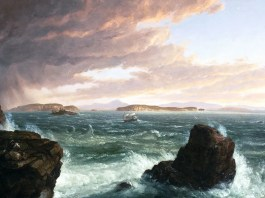 View Across Frenchman's Bay from Mount Desert Island, After a Squall. Thomas Cole