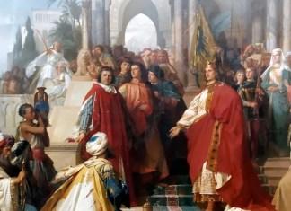 The Court of Emperor Frederick II in Palermo. Arthur von Ramberg