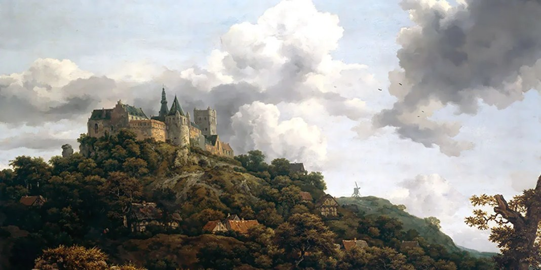 Bentheim Castle. Jacob van Ruisdael