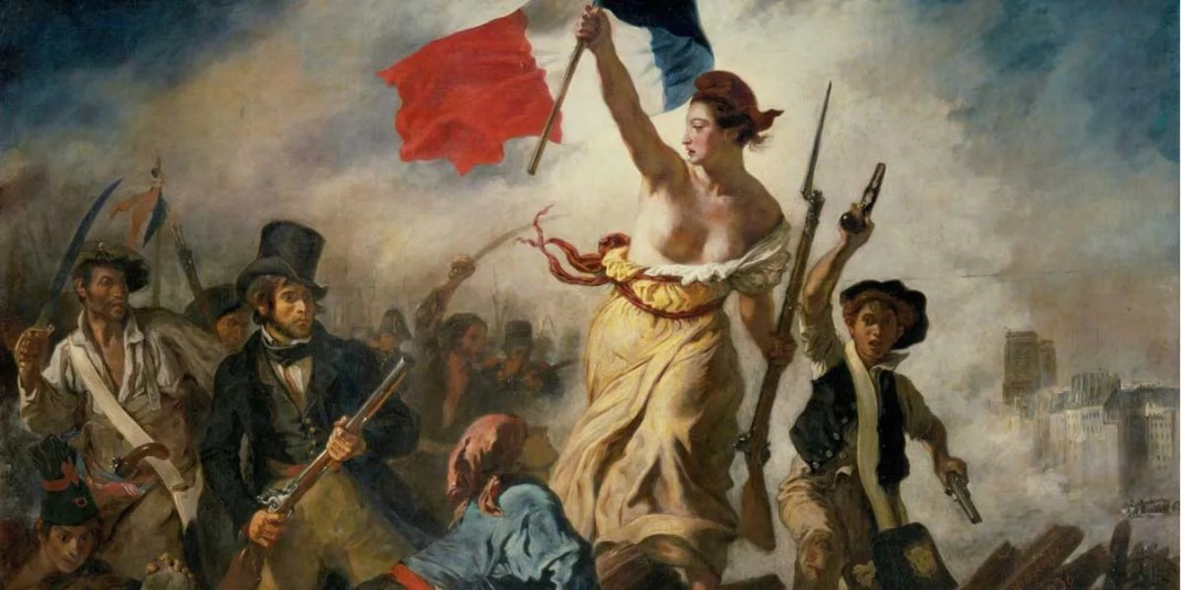 Ferdinand-Victor-Eugène Delacroix. Liberty Leading the People.
