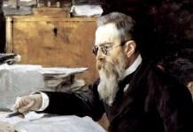 Portrait of Nikolai Andreyevich Rimsky-Korsakov, by Valentin Serov (1898)