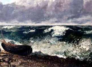 The Stormy Sea, Gustave Courbet (1869)