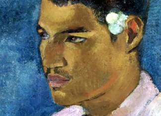 Young Man with a Flower Behind his Ear, Paul Gauguin (1891)