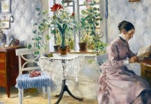 An Interior with a Woman Reading. Carl Larsson