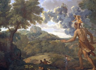 Blind Orion Searching for the Rising Sun. Nicolas Poussin