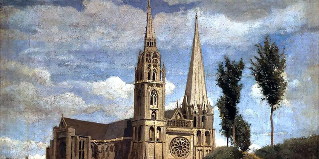 Jean-Baptiste-Camille Corot. The Cathedral of Chartres