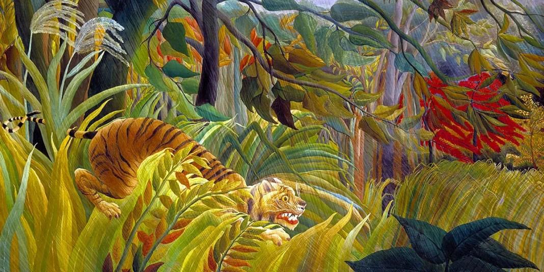 Sorpresa! (o Tigre in una tempesta tropicale) di Henri Rousseau