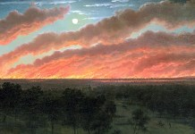 Bush fire between Mount Elephant and Timboon, Eugene von Guerard (1857)