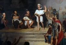 """""""El Sendo de Tlaxcala (1875)"""" di Rodrigo Gutiérrez (1848 - 1903)"""