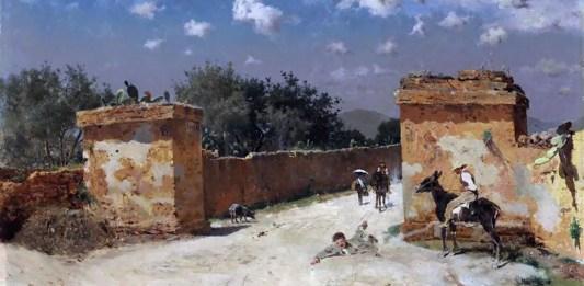 Antonino Leto (1844-1913). Incidente a mezzogiorno, 1870-1875