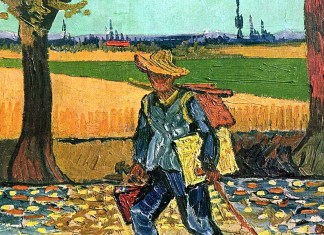Selfportrait on the Road to Tarascon (The Painter on His Way to Work), Vincent van Gogh (1888)