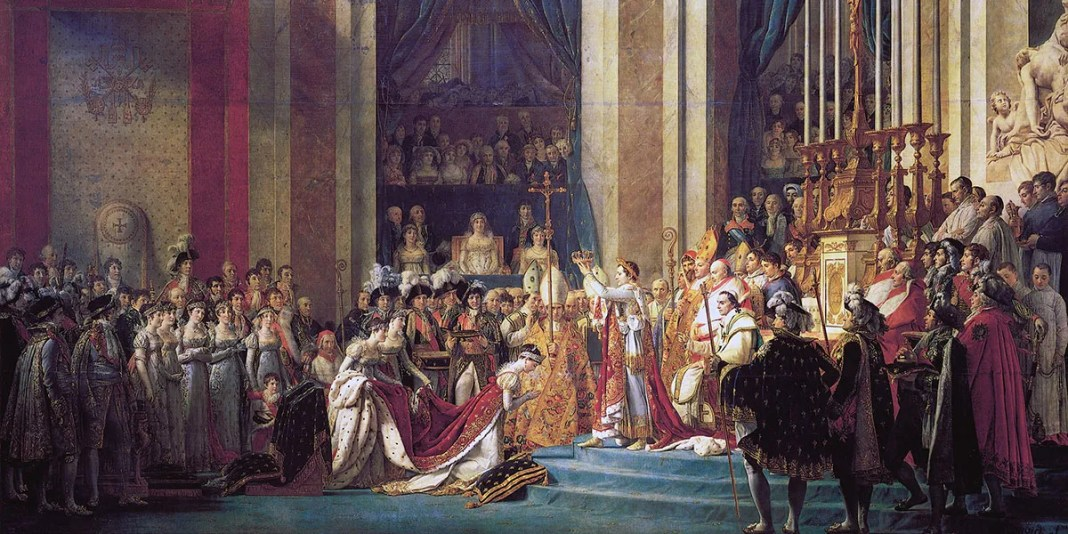 The Consecration of the Emperor Napoleon and the Coronation of the Empress Josephine by Pope Pius VII, 2nd December 1804, Jacques-Louis David