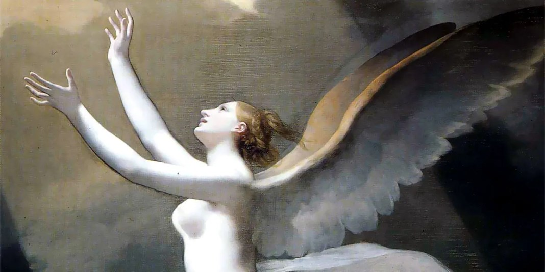 The soul breaking the bonds that attach to the land, Pierre-Paul Prud'hon