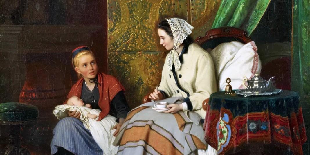 Maternal Joy. Johann Georg Meyer