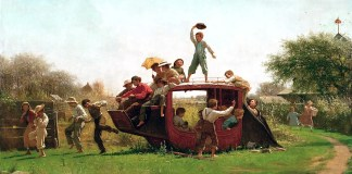 The Old Stagecoach (1871). Eastman Johnson
