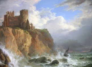 View of Tantallon Castle and the Bass Rock by Alexander Nasmyth