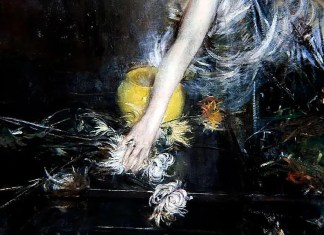 Arm with Vase of Flowers, Giovanni Boldini (1910)