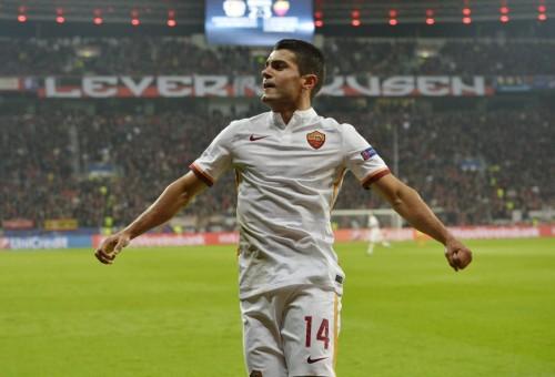 bayer-roma-iago falque gol 232 esultanza