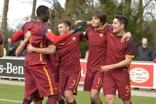 psv-roma-primavera-youth-league-marchizza soleri anocic sadiq gol esultanza