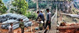 एसियाकै अग्लो झोलुङ्गे पुलको निर्माण सम्पन्न