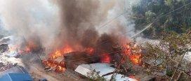 ताप्लेजुङको दोभान बजारमा आगलागीबाट ४७ घर पूर्ण रुपमा क्षति