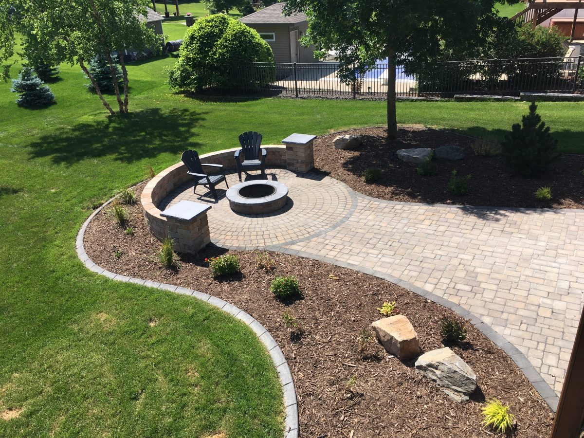 Fire Pit and Paver Patio - Pahl's Market - Apple Valley, MN on Paver Patio Designs With Fire Pit id=90084