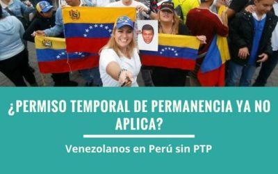 Venezolanos en Perú desde el 1 de noviembre del 2018 | Sin PTP (Permiso Temporal de Permanencia)