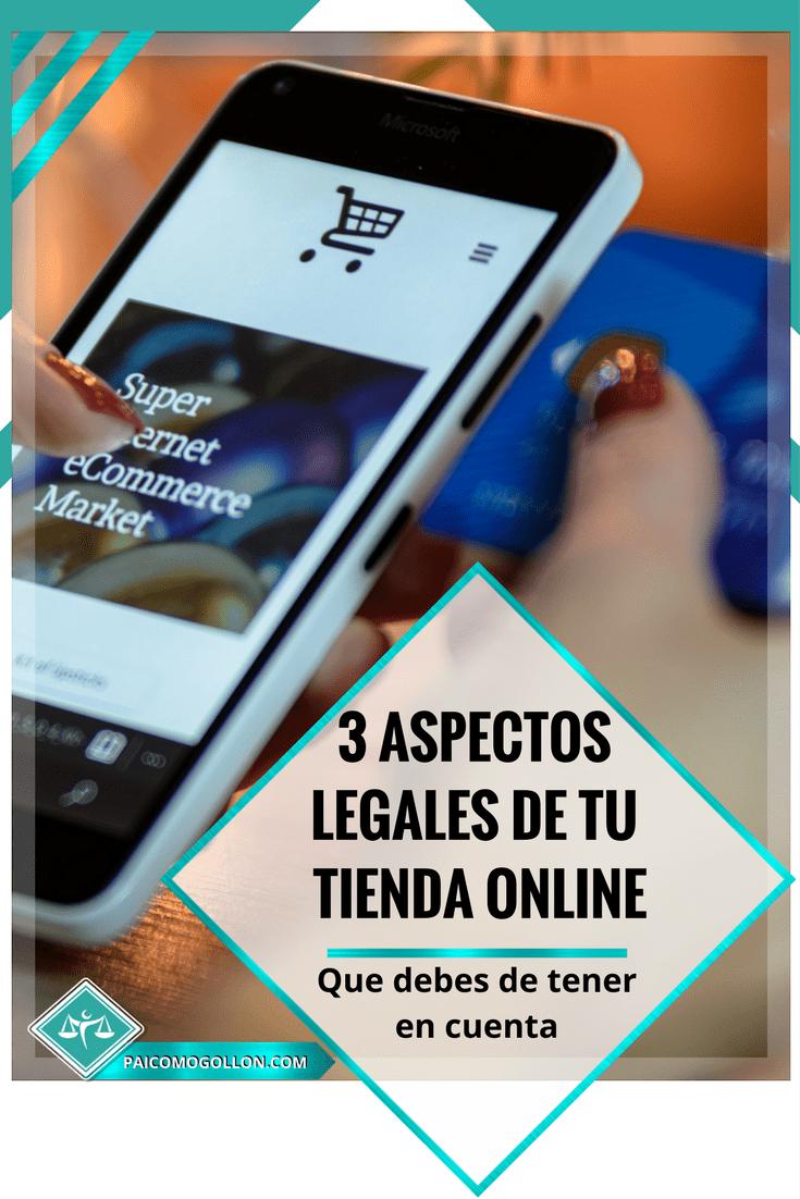 Tienda online: 3 aspectos legales para tener en cuenta