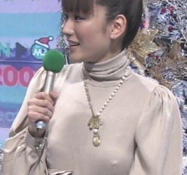堂真理子アナ乳首の突起が胸ポチ
