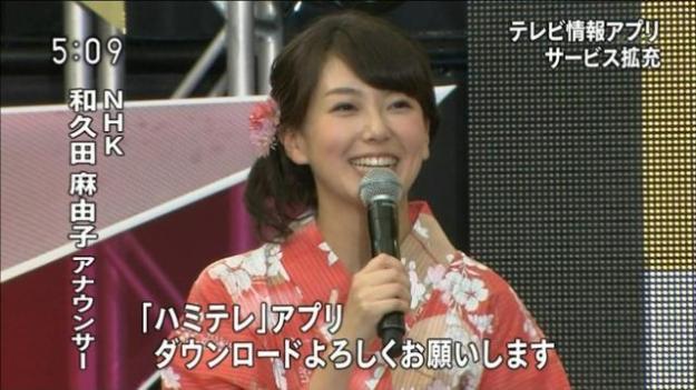 和久田麻由子アナ乳首の突起が胸ポチの放送事故エロお宝画像