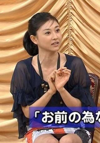 菊川怜パンチラ・おっぱいの谷間チラリの放送事故エロお宝画像rei8