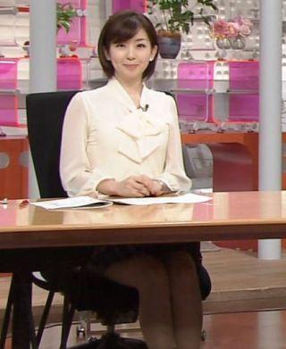 松尾由美子アナパンチラ・美脚太もももチラリ放送事故エロお宝画像