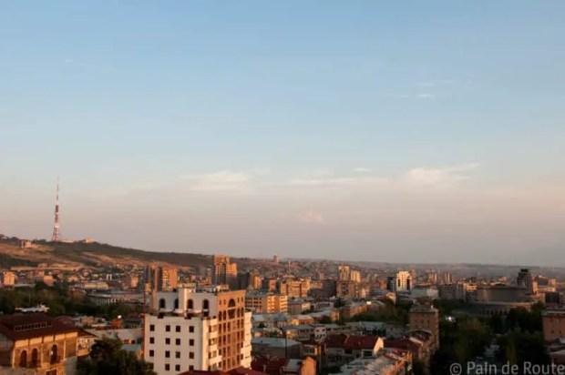 Panorama su Yerevan, Armenia