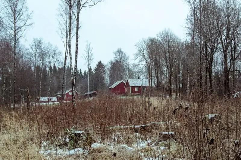 Casette rosse a Sognsvann