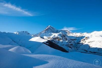 Il Monte Kazbek a dicembre (5.033m)
