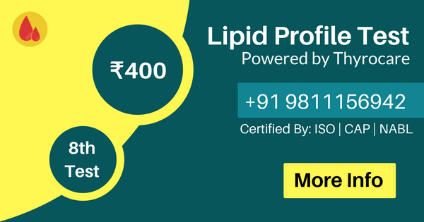Lipid blood test at home services lowest Price in Delhi