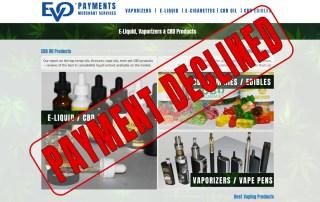 EVO PAYMENTS high-risk merchant account provider is shutting down e-liquid & vape merchant services