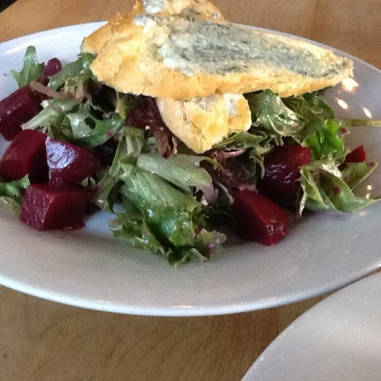 Pickled Beet Salad with Maytag Blue Cheese Crostini