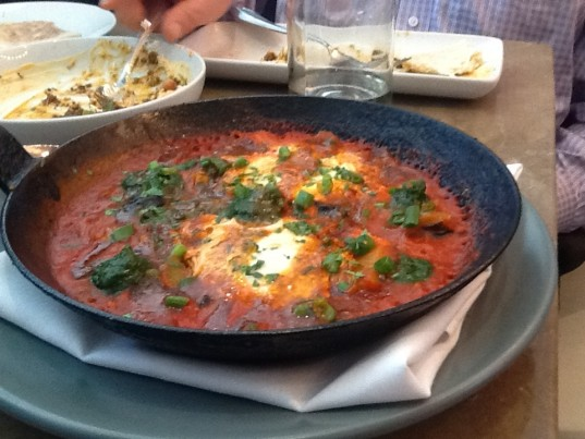 Shakshouka - Chermoula, Jerusalem Artichoke, Chiles, Tomato and Egg
