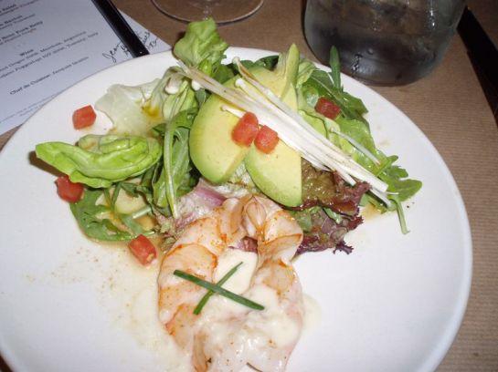 Shrimp and Enoki Mushroom Salad