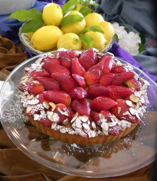 Strawberry Frangipane Tart- Cropped