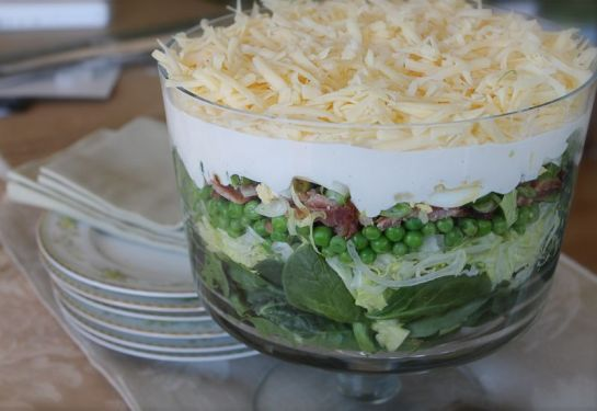 Seven Layer Spinach Salad