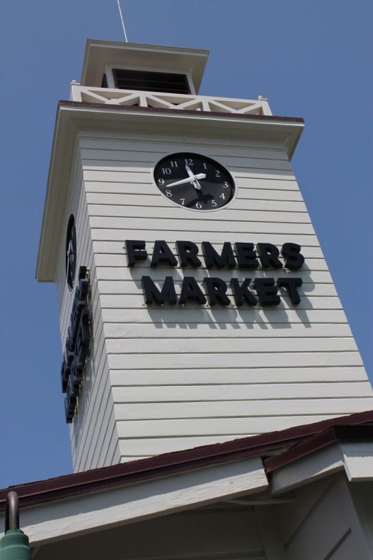 Clock Tower at the Farmers Market