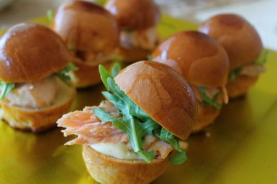 Planked Salmon Sliders
