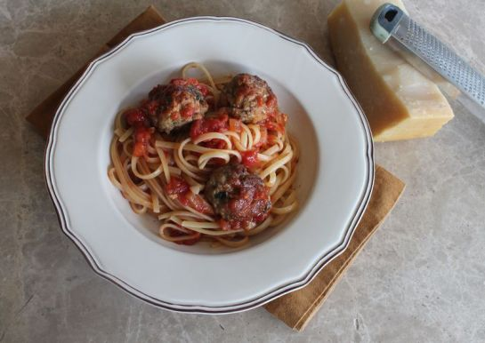 Spaghetti and Meatballs- Cropped