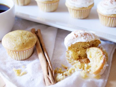 Mini Pumpkin Spice Cupcakes