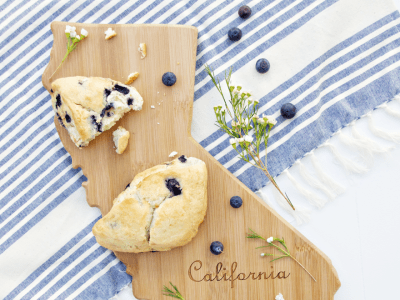 Blueberry Scone Recipe & New Cutting Board