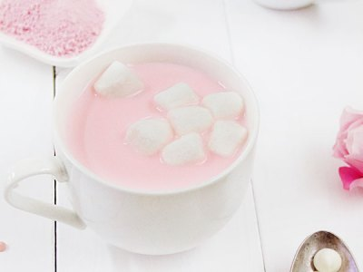 Valentine's Day Pink Hot Chocolate